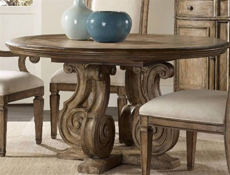 Luxe Designs 54''-74''L x 54'' Wide Round Dining Table