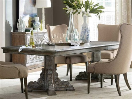 Luxe Designs 88''-128''L x 46'' Wide Rectangular Dining Table