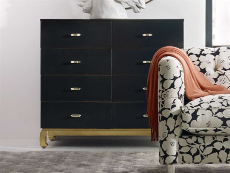 Luxe Designs 8 Drawers and up Double Dresser LXD16878910099BLK2