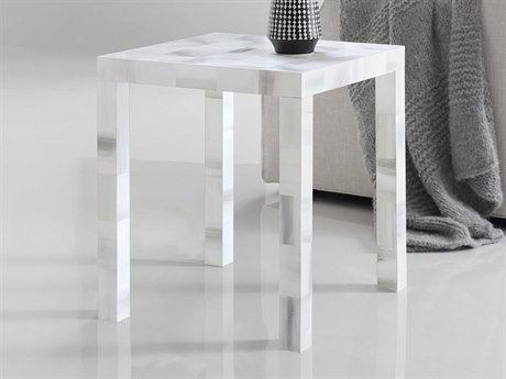 Luxe Designs Grey 20'' Wide Square End Table