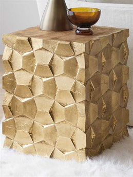 Luxe Designs 16'' Wide Square End Table LXD58157931187GLD