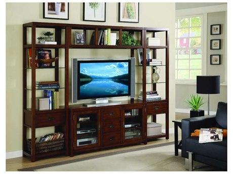 Luxe Designs Rich Medium Brown 100''L x 20''W Entertainment Center LXD4896930111