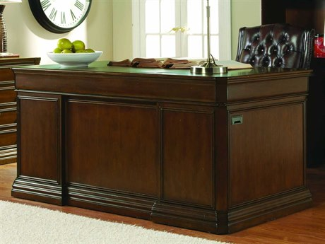 Luxe Designs Light Distressed Medium Brown 66''L x 36''W Rectangular Executive Desk LXD3591055737