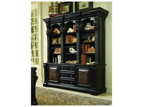 Luxe Designs Black with Reddish Brown Bookcase Hutch LXD4711026433