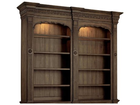 Luxe Designs Medium Wood Double Bookcase Hutch LXD51711036431