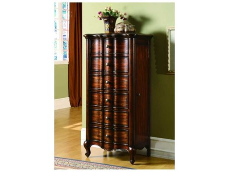 Luxe Designs Mahogany 24''W x 49''H Jewelry Armoire LXD6015074943