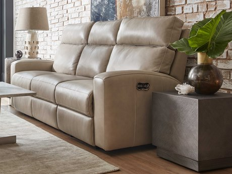 Luxe Designs Cream Power Motion Sofa with Power Headrest LXD5639009P3