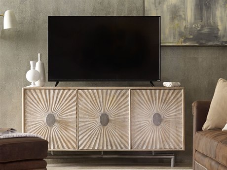 Luxe Designs Light Wood 68''L x 16''W Rectangular Entertainment Console LXD56615491332LTWD