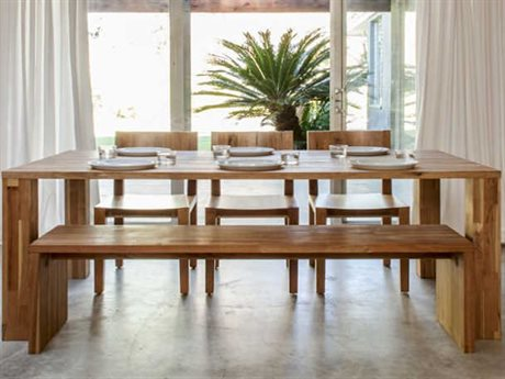 Mash Studios Laxseries Natural Linseed Oil 72'' Wide Rectangular Dining Table MSHLAX723630SW