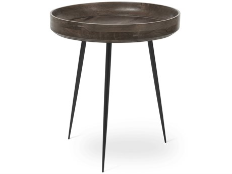 Mater Bowl Sirka Grey Stain 18'' Round End Table MTR01603