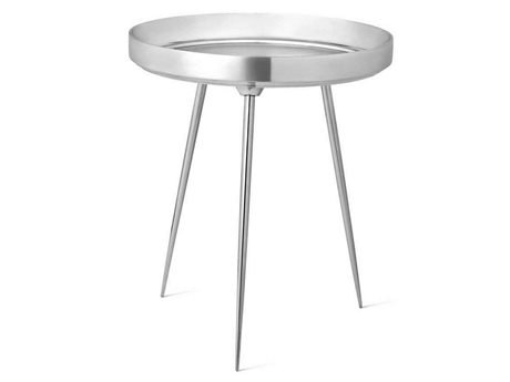 Mater Bowl Polished Aluminum 18'' Wide Round End Table