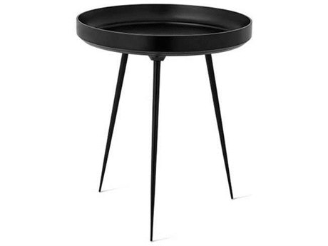 Mater Bowl Black 18'' Wide Round End Table MTR01622