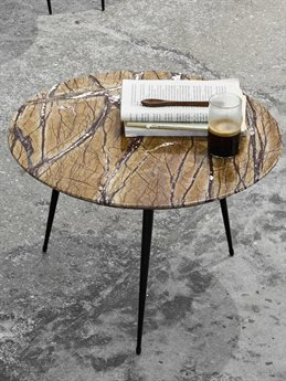 Mater Disc Jungle Brown 21'' Wide Round End Table MTR01721