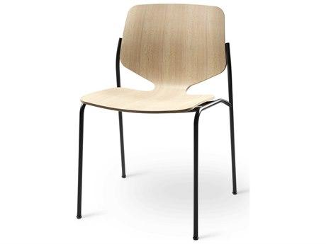 Mater Nova Natural / Gun Metal Side Dining Chair MTR09001