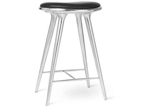 Mater Space Recycled Aluminum Counter Stool