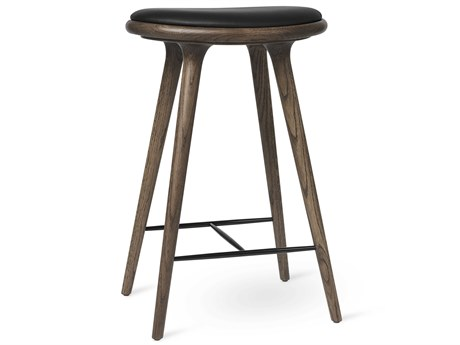 Mater Space Premium Edition Dark Staine Oak Stain Counter Stool