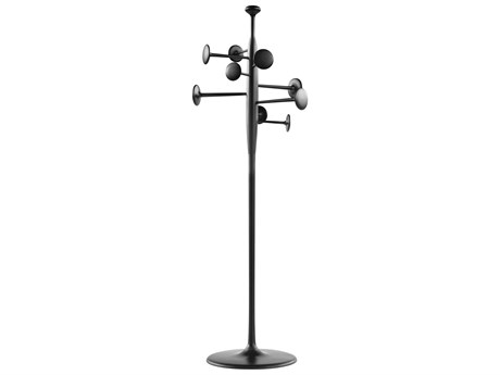 Mater Trumpet Black Partly Recycled Aluminum Coat Stand MTR00226