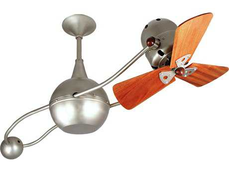 Matthews Fan Company Brisa 2000 Mahogany Blade 40'' Wide Outdoor Ceiling Fan