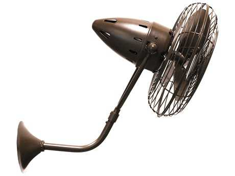 Matthews Fan Company Bruna Parede Wall Fan MFCBPBZTTMTL