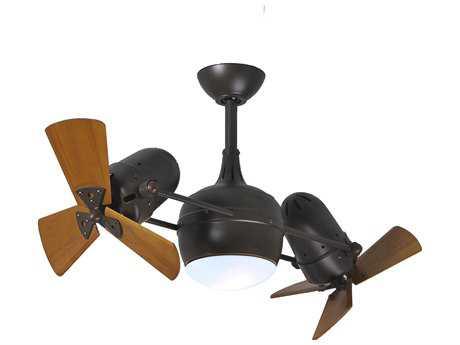 Matthews Fan Company Dagny Textured Bronze & Mahogany Tone 2-Light 38'' Wide Indoor Ceiling Fan