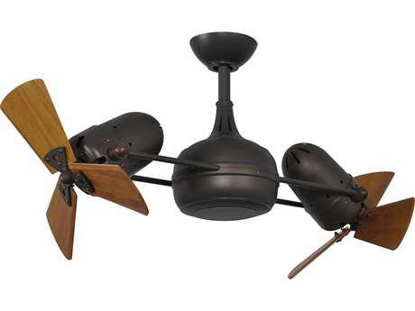 Matthews Fan Company Dagny Textured Bronze & Mahogany Tone 38'' Wide Indoor Ceiling Fan MFCDGTBWD