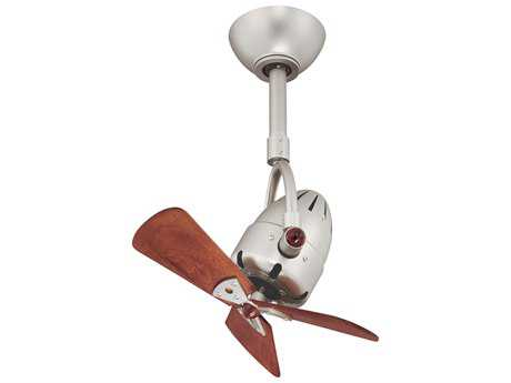 Matthews Fan Company Diane Brushed Nickel & Mahogany Tone 16'' Wide Indoor Ceiling Fan MFCDIBNWD
