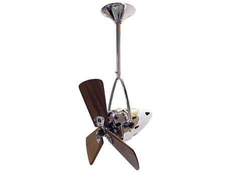 Matthews Fan Company Jarold Direcional Mahogany Blade 16'' Wide Outdoor Ceiling Fan