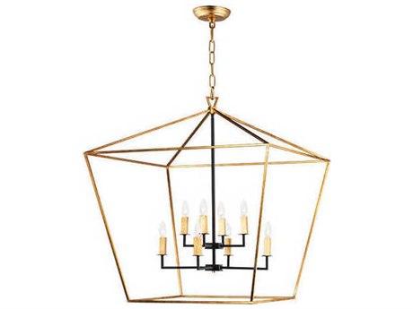 Maxim Lighting Abode Gold Leaf / Textured Black 32'' Wide Medium Chandelier MX25154GLTXB