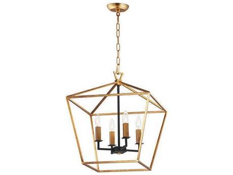 Maxim Lighting Abode Gold Leaf / Textured Black 17'' Wide Mini Chandelier MX25156GLTXB