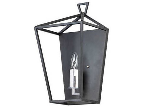 Maxim Lighting Abode Textured Black / Polished Nickel Vanity Light MX25159TXBPN