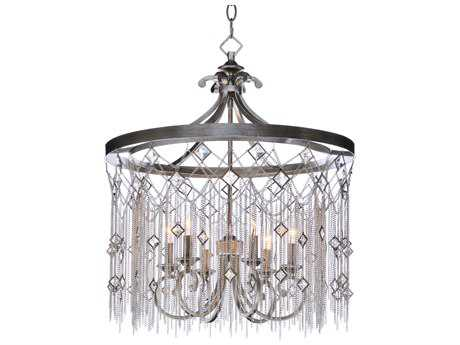 Maxim Lighting Alessandra Silver Mist Six-Light 24'' Wide Chandelier MX30275SM