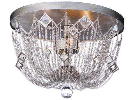 Maxim Lighting Alessandra Silver Mist Three-Light 15'' Wide Flush Mount Light MX30270SM