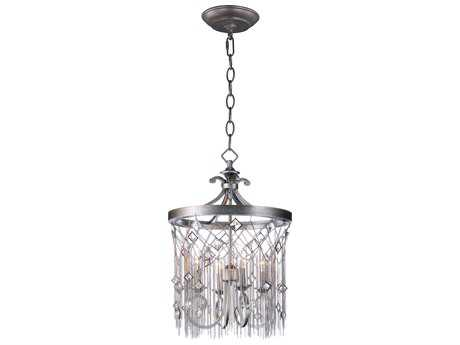 Maxim Lighting Alessandra Silver Mist Four-Light 16'' Wide Mini Chandelier