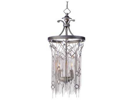 Maxim Lighting Alessandra Silver Mist Two-Light 10'' Wide Mini Pendant Light MX30273SM