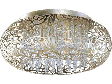 Maxim Lighting Arabesque Golden Silver Seven-Light 18'' Wide Flush Mount Light