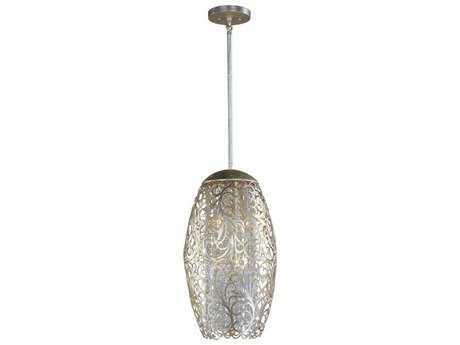 Maxim Lighting Arabesque Golden Silver & Beveled Crystal  Six-Light 13'' Wide Pendant Light MX24151BCGS