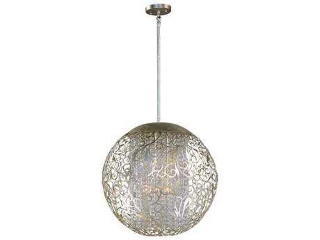 Maxim Lighting Arabesque Golden Silver & Beveled Crystal  Nine-Light 23'' Wide Pendant Light