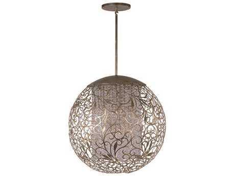 Maxim Lighting Arabesque Golden Silver & Beveled Crystal  13-Light 30'' Wide Pendant Light