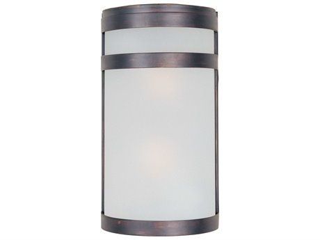 Maxim Lighting Arc Led E26 Oil Rubbed Bronze Glass LED Outdoor Wall Light MX65002FTOI