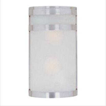 Maxim Lighting Arc Led E26 Stainless Steel Glass LED Outdoor Wall Light MX65002FTSST