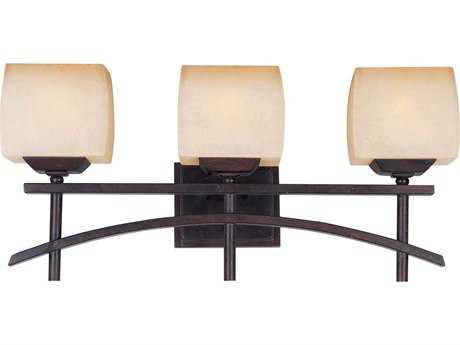 Maxim Lighting Asiana Roasted Chestnut & Wilshire Glass Three-Light Vanity Light MX10993WSRC