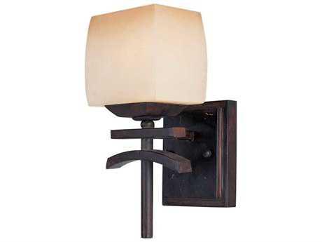Maxim Lighting Asiana Roasted Chestnut & Wilshire Glass Wall Sconce MX10996WSRC