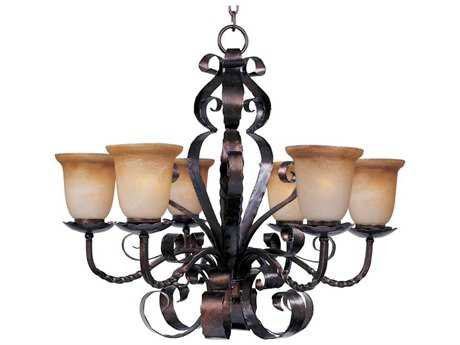 Maxim Lighting Aspen Oil Rubbed Bronze Six-Light 30 Wide Chandelier MX20607VAOI