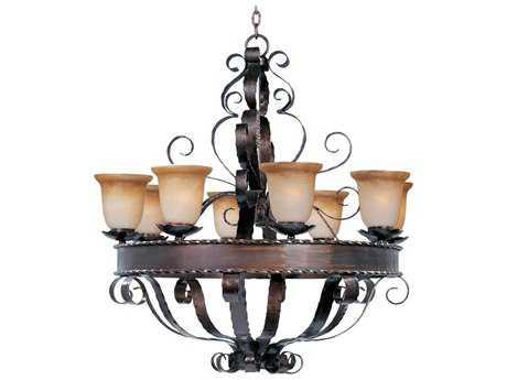 Maxim Lighting Aspen Oil Rubbed Bronze Eight-Light 35 Wide Chandelier MX20610VAOI