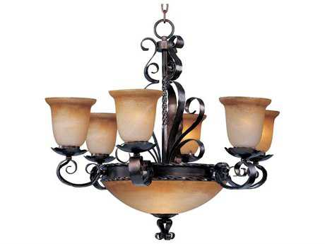Maxim Lighting Aspen Oil Rubbed Bronze Nine-Light 30 Wide Chandelier MX20613VAOI