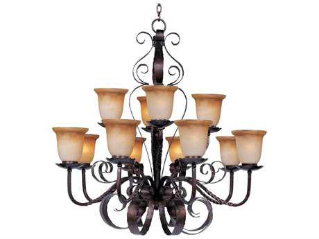 Maxim Lighting Aspen Oil Rubbed Bronze 12-Light 38 Wide Chandelier MX20614VAOI