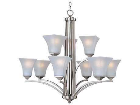 Maxim Lighting Aurora Satin Nickel Nine-Light 31.5 Wide Chandelier