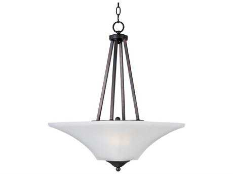 Maxim Lighting Aurora Oil Rubbed Bronze & Frosted Glass Two-Light 16'' Wide Pendant Light MX20093FTOI