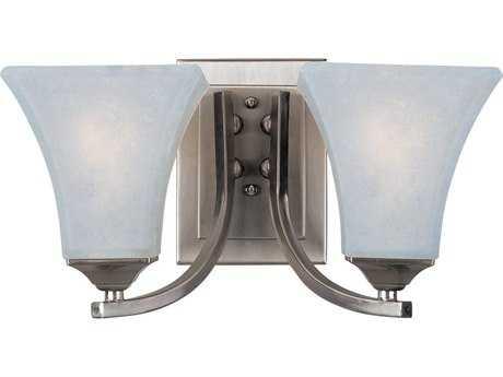 Maxim Lighting Aurora Satin Nickel & Frosted Glass Two-Light Incandescent Vanity Light MX20099FTSN