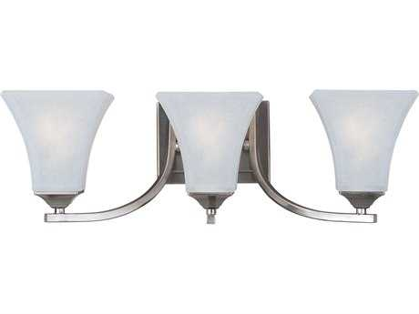Maxim Lighting Aurora Satin Nickel & Frosted Glass Three-Light Incandescent Vanity Light MX20100FTSN